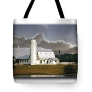 White Farm Tote Bag