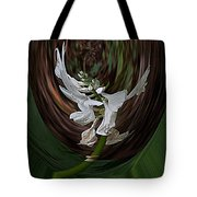 White Flight Tote Bag