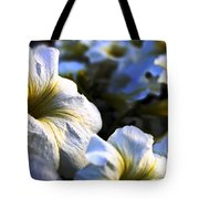 White Flowers At Dusk 2 Tote Bag