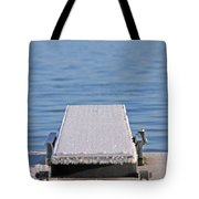 White Frost Diving Board Tote Bag