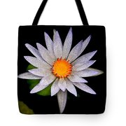 White Frost Flower Tote Bag