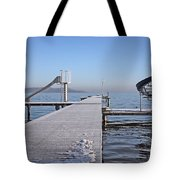 White Frost Slide Tote Bag