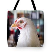 White Hen Tote Bag