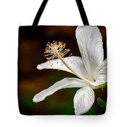 White Hibiscus II Tote Bag