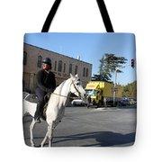 White Horse In Bethlehem Street Tote Bag
