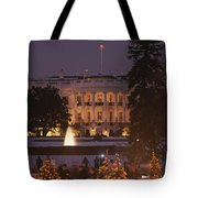 White House, From Elipse At Christmas Tote Bag