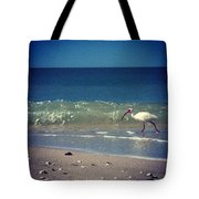 White Ibis  Tote Bag by Katie Cupcakes