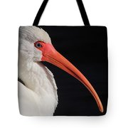 White Ibis Portrait Tote Bag