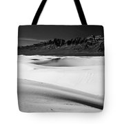 White In White Sands Tote Bag
