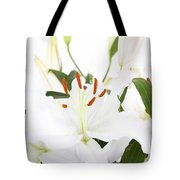 White Lilies And Background Tote Bag