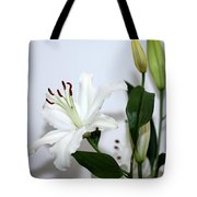 White Lily With Buds Tote Bag