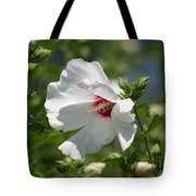 White Linen Tote Bag
