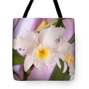 White Orchid Tote Bag by Mike McGlothlen