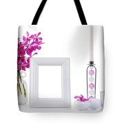 White Picture Frame In Decoration Tote Bag