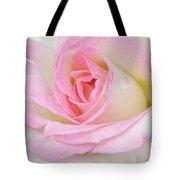 White-pink Rose Tote Bag