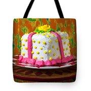 White Present Cake Tote Bag