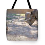 White Rhino And Ibex Tote Bag