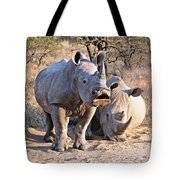 White Rhinoceros Tote Bag