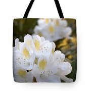 White Rhododendron Bloom Tote Bag