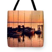 White Rock Sailboats Hdr Tote Bag