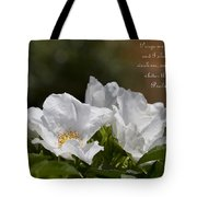 White Roses - Purge Me With Hyssop Tote Bag