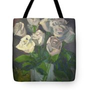 White Roses Tote Bag by Lilibeth Andre
