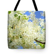 White Shower Tree Tote Bag