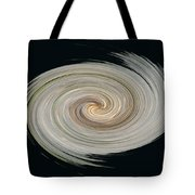 White Spiral Tote Bag