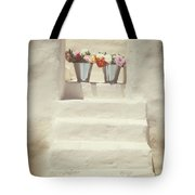 White Steps Tote Bag