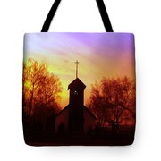 White Swan Church In The Sunset Tote Bag