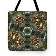 White Tiger Carousel Tote Bag