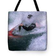 White Water Kayaker Tote Bag
