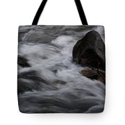 White Water Rushes Over Rocks Tote Bag