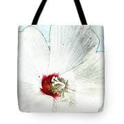 White Wildflower V Tote Bag