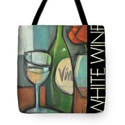 White Wine Poster Tote Bag