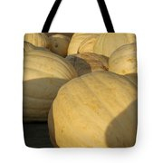 White Yellow Pumpkins Tote Bag