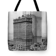 Whitehall Buildings At Battery Place Station In New York City - 1911 Tote Bag