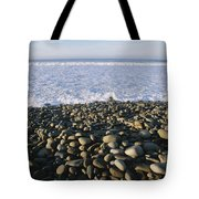 Whitewater From Crashing Waves Washes Tote Bag