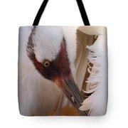 Whooping Crane Preening Tote Bag
