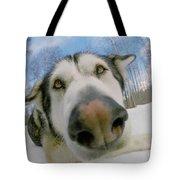 Wide Angle Dog Tote Bag