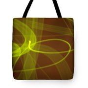 Wide Bands Of Soft Green Light Curve Around Each Other Tote Bag