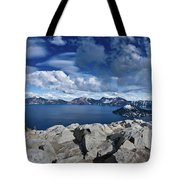 Wide View Of Crater Lake Tote Bag