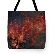 Widefield View Of He Crescent Nebula Tote Bag