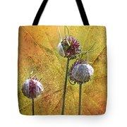 Wild Allium Ala Grunge Tote Bag