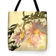 Wild Asters Aged Look Tote Bag