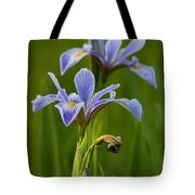 Wild Blue Flag Iris Tote Bag