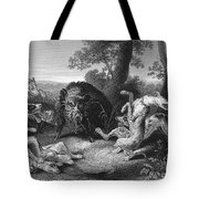 Wild Boar Hunt Tote Bag