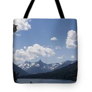 Wild Goose Island Floats In St Mary Lake Tote Bag