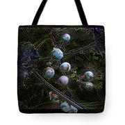 Wild Grapes Abstracted Tote Bag