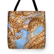 Wild Grasses Against A Blue Sky Tote Bag